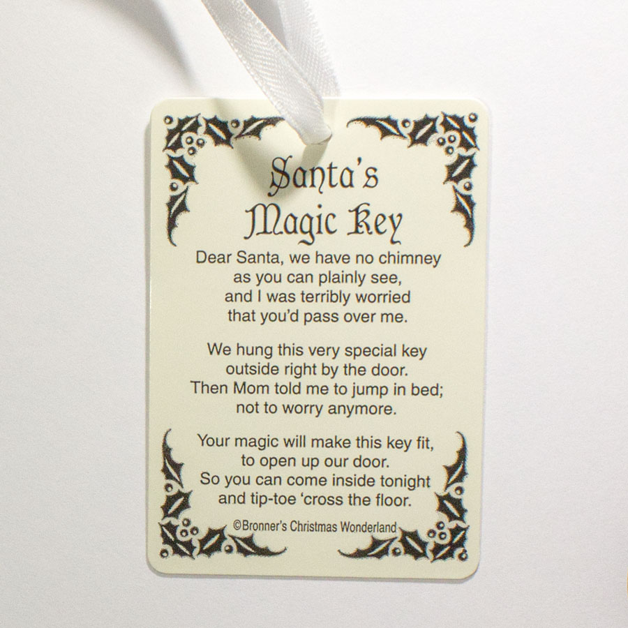 Poem for santa 39 s magic key does not include key for Santa s magic key craft